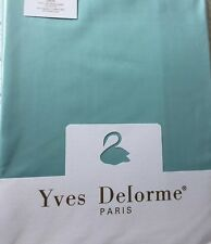 Yves Delorme TRIOMPHE LAGON SATIN SUPERKING FITTED SHEET 185/205CMS