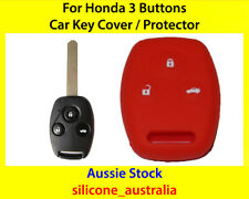 New Red Silicone Car Key Cover for Honda Civic Accord CR-V Odyssey City Fit