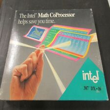 A80387DX, 387DX INTEL MATH CO-PROCESSOR 16 MHZ, NEW & BOXED, VINTAGE COLLECTABLE