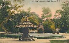 VICTORIA BC – Hand Colored Postcard - Beacon Hill Park The Lake
