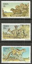 Südwestafrika - Naturschutz Satz postfrisch 1976 Mi. 420-422