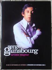 SERGE GAINSBOURG PLAN MéDIA ARTISTE MAJEUR 12 PAGES FORMAT 30X22 TRèS BON ETAT