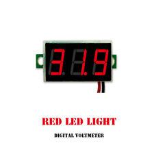 DC 4.5-30V 2 Wire LED Display 3 Digital Voltage Voltmeter Panel Car Motorcycle