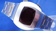 VINTAGE STYLE trama grossa 1970 S ha un aspetto Retrò Orologio digitale LED LCD 12 & 24 H