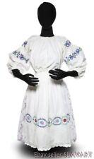 Vintage Ukrainian Folk Costume embroidered blouse apron peasant skirt ethnic old