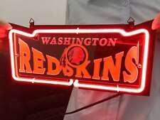 "Washington Redskins Football Beer Poster Team Logo NEON Light Sign 12""x6"" R017"