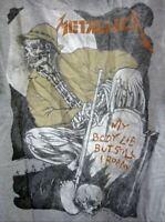 Metallica ~ Pushead ~ WHEREVER I MAY ROAM ~ GIANT Vintage XL Shirt 90's RARE