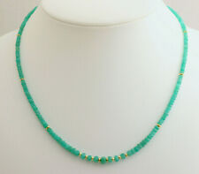 Gorgeous Emerald Chain Natural Faceted Rondelle Green Stones Necklace 18 1/2in