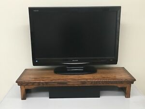 TV Riser Stand Traditional Style in Oak Coffee Finish