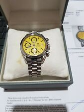 Omega Speedmaster Automatic Yellow 3750043 in beautiful condition and very RARE
