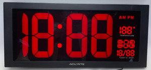 "AcuRite 18"" Information digital wall clock sign model 75100MA1"