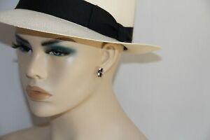 Nickho Rey Black Spinel Enamel Rose Gold Huggie Earrings