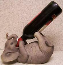 Wine Bottle Holder and/or Decorative Sculpture Elephant Pachyderm NEW