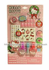 HELLO KITTY Over 65pc 3D Nail Set POLISH+GLITTER+STICKERS+PRESS-ON NAILS Holiday