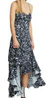Free People Womens Dresses Blue Size 6 A-Line Maxi Hi-Low Ruffled $148 267