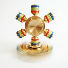 6 Hand Spinner Brass fidget Focus Toy Metal EDC finger Spinner Relief Stress A1