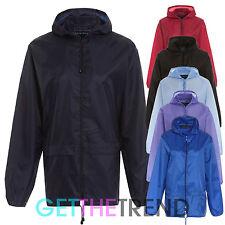 New Lightweight Unisex Kagoul Rain Coat Jacket Mac Kagool Cagoule S-XXL PLUS