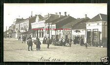 Nisch Nis rppc People Shops Nisava Serbia 1916 Military cancel