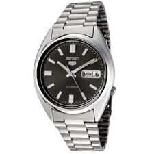 Relojes de pulsera Seiko 5 de plata de acero inoxidable