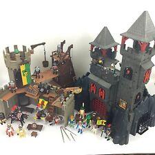 Énorme Playmobil Chevaliers Bundle 2 châteaux Action Figures 3269 3123 Playsets