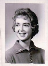 Happy Teenage Girl's High School Photo 1950s