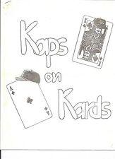 Fred Kaps Notes Kaps on Kards Vintage Lecture International Magician