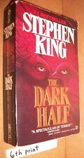 The Dark Half Stephen King 90 Signet novel AE6731 paperback 6th print PB 486p VG