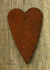 """12 - Primitive 2-3/4"""" Rusty Tin Hearts with Hang Hole -:¦:- Crafts"""