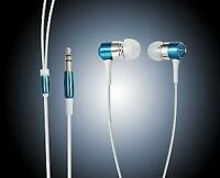 EARPHONES EARBUDS FOR iPOD MP3 MP4 IN BLUE **NEW**