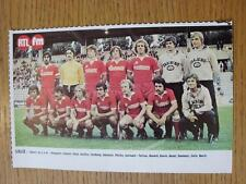 """1976/1977 Football Magazine (France) Colour Team Group [8""""x 5""""] Cut Outs: Lille"""