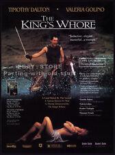 THE KING'S WHORE__Orig. 1993 Trade AD movie promo__VALERIA GOLINO_TIMOTHY DALTON