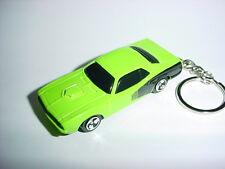 NEW 3D GREEN PLYMOUTH BARACUDA KEYCHAIN chain keyring HEMI mopar RACE 440