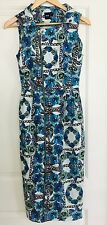 ASOS WOMENS DRESS MIDI FLORAL PRINT COTTON ELASTANE SZ 6