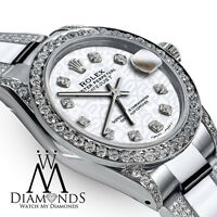 Women's 31mm SS Rolex Oyster Perpetual Datejust Custom White Jubilee Dial