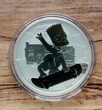 2020 Tuvalu Bart Simpson 1oz Silver Bullion coin in capsule Perth Mint