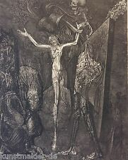 Museales Exemplar ! Ernst Fuchs (1930) Originalradierung 171 Totenglocke XV/XXIV