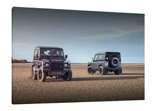 Landrover Defender 90 - 30x20 Inch Canvas Art Framed Picture Print