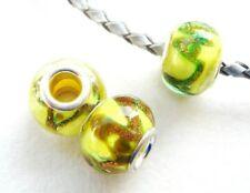 European Beads Modulperlen Goldsand 2 Stück SERAJOSY