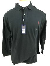 NWT 4XB Big Man BLACK POLO by Ralph Lauren Long Sleeved Shirt Retail $95.00