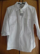 NWT Christopher Banks  White   3/4 Sleeve Button up Top Shirt Sz PL