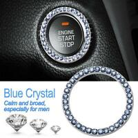 40mm/1.57in OD Car Auto Start Switch Button Decorative Diamond Ring(Blue)  NIGH