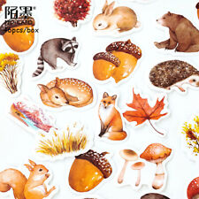 46pcs Cute Forest Animals Adhesive Paper Stickers Scrapbooking Diary Planner