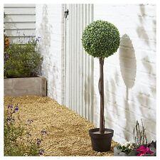 Árbol de topiario de bola de boj artificial de una sola planta real que buscan patio al aire libre