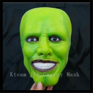Mask Horror Latex The Mask Jim Carrey Maschera Lattice The Mask Taglia Adulto