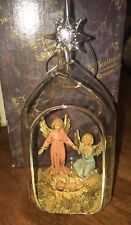 Fontanini Blown Glass Christmas Ornament Virgin Mary & Angel 56304