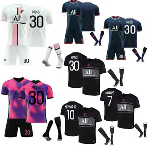 21/22 All Kids Football Kits Boys Youth Adult Soccer Shirt -Training Suits UK