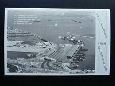 More details for gibraltar docks / port / pier & spanish coast - old postcard by the rock studio
