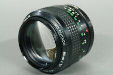 MINOLTA MD ROKKOR 85mm f 1.7 Camera Lens USED