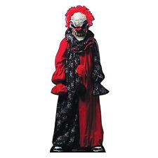 CREEPY CLOWN Lifesize CARDBOARD CUTOUT Standup Standee Scary Halloween Prop F/S
