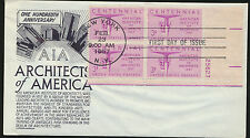1089 Architects of America  Anderson Cachet FDC with Plate # Block  LOT 864